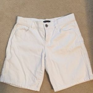 New York & Co. white denim shorts